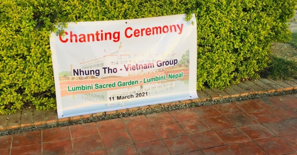 Chanting ceremony in Lumbini sacred garden (Nepal) - Dành cho các Mom đang mong cầu con ??